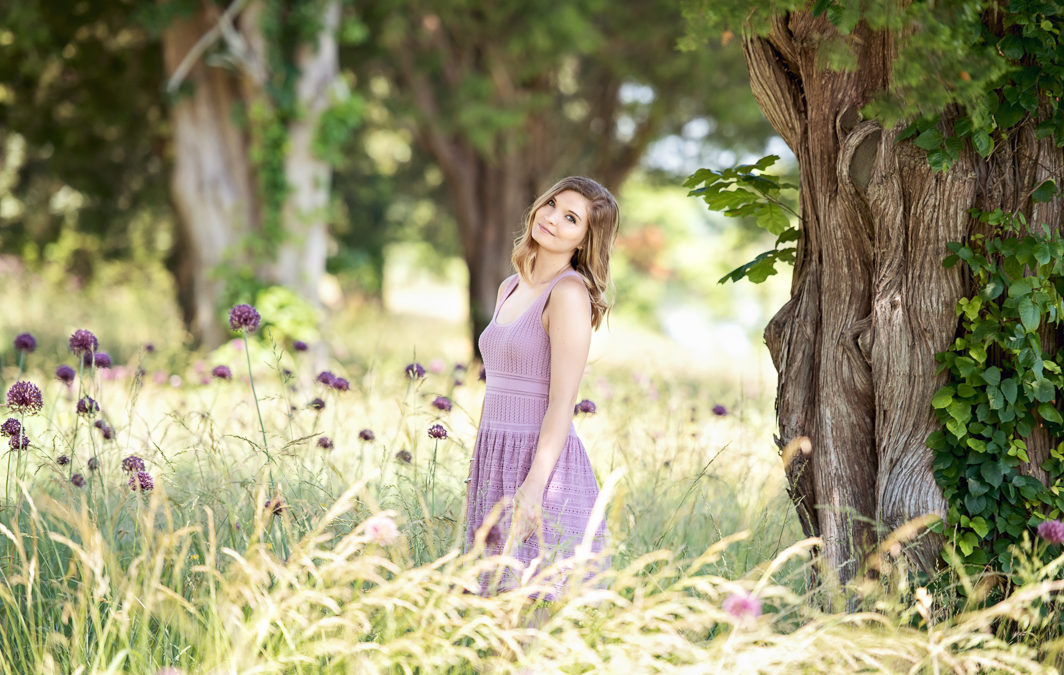 Spring Flowers Senior Photo Session | Williamsburg, VA